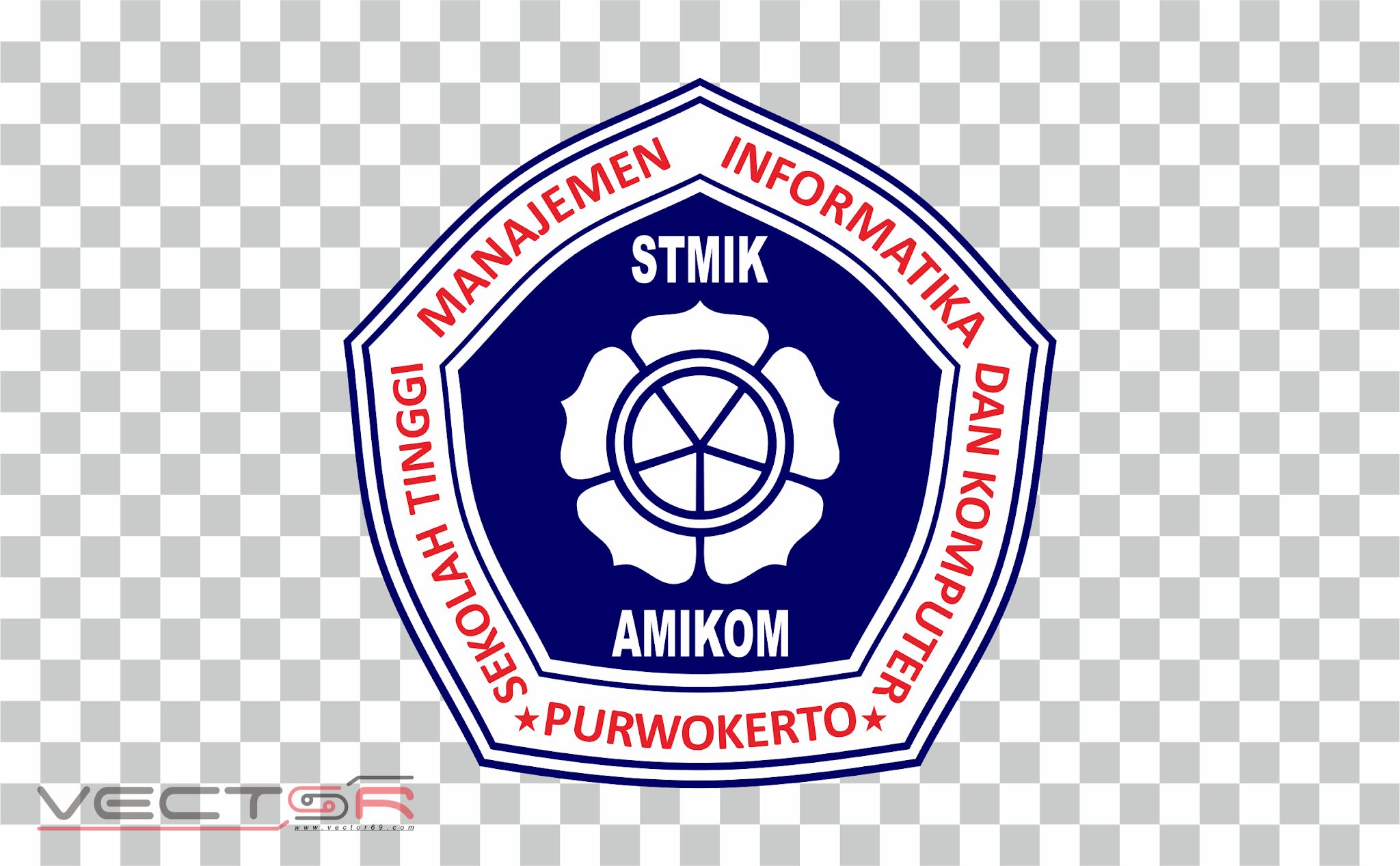 STMIK Amikom Purwokerto Logo - Download Vector File PNG (Portable Network Graphics)