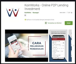 Aplikasi investasi koinworks
