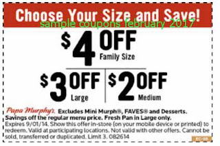 Papa Murphys coupons for february 2017