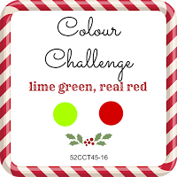 52 CCT colour challenge lime green and real red