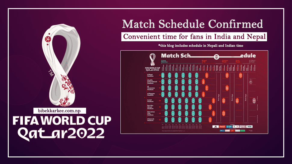 FIFA World Cup 2022 Qatar Match Schedule, Indian Standard Time and Nepali Standard Time