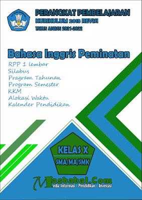Perangkat Pembelajaran Bahasa Inggris Peminatan Kurikulum 2013 Revisi Terbaru