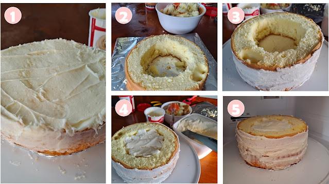 Easy steps DIY Frozen cake with ice cream