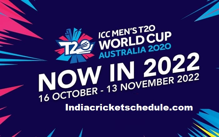 ICC Men's T20 World Cup 2022 Schedule, Fixtures, Match Time Table, Venue