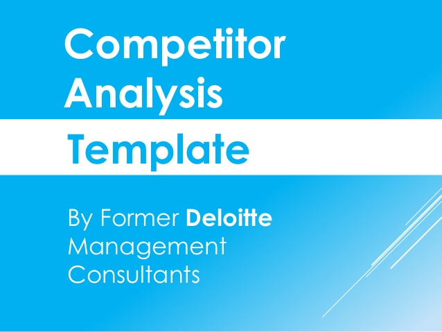 Competitive Market Analysis Template  Charts And Templates Used