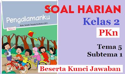 Download Soal Harian Kelas 2 Tema 5 Subtema 1 Pendidikan Pancasila dan Kewarganegaraan Beserta Kunci Jawaban