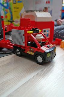 wóz strażacki klocki
