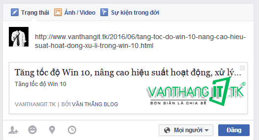 Cách sửa lỗi không hiện ảnh khi chia sẽ link lên Facebook 2016
