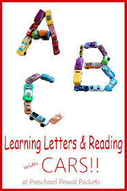 learning letters reading with cars preschool powol packets. Black Bedroom Furniture Sets. Home Design Ideas