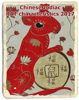 Chinese zodiac RAT characteristics 2017