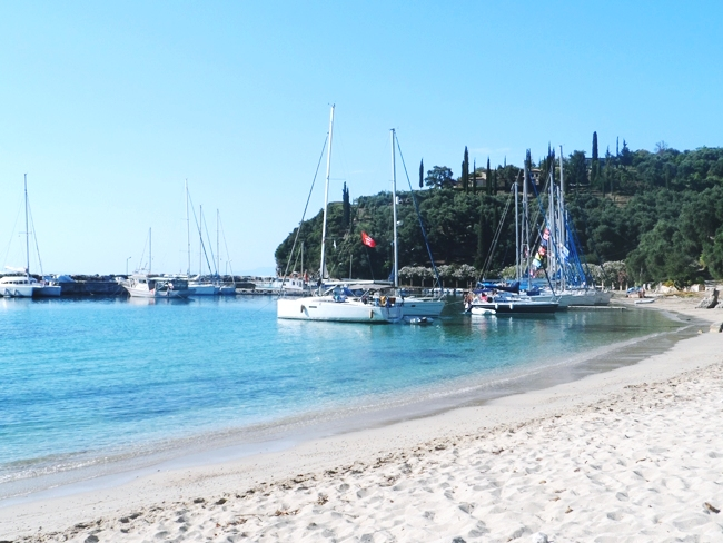 Parga beaches: sandy and long Valtos beach. Parga Valtos plaza.Must-see in Parga.Best Parga beaches.