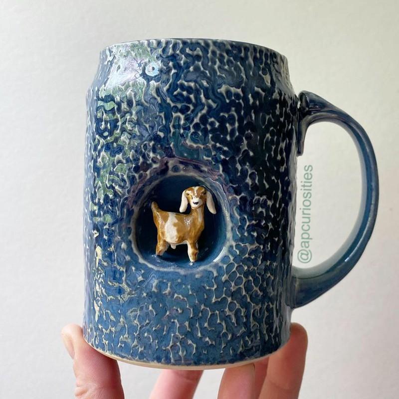 Canecas de cerâmica artesanais