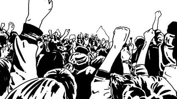 Demo Mahasiswa diWarnai Kericuhan Saat Aksi didepan DPRD SULUT