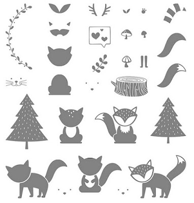 Check out the Foxy Friends Stamp Set by Stampin' Up! You can create gorgeous forest scenes with this fun stamp set.