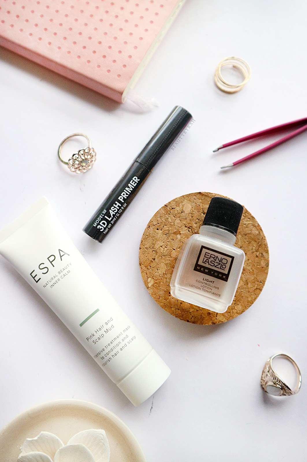 ESPA Pink Hair and Scalp Mud and Model Co 3D Lash Primer Review