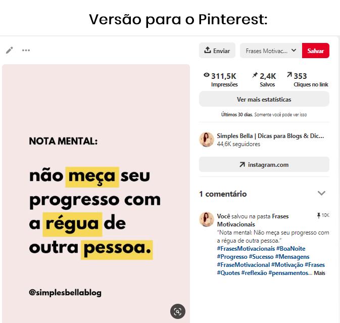 Como ganhar seguidores no Instagram através do Pinterest