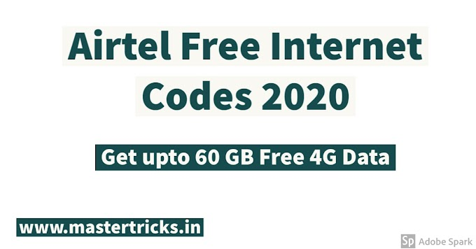 (Latest) Get Airtel Free Data  [2020] by Miss Call - Get 30 GB Free Airtel 4G Data - MasterTricks