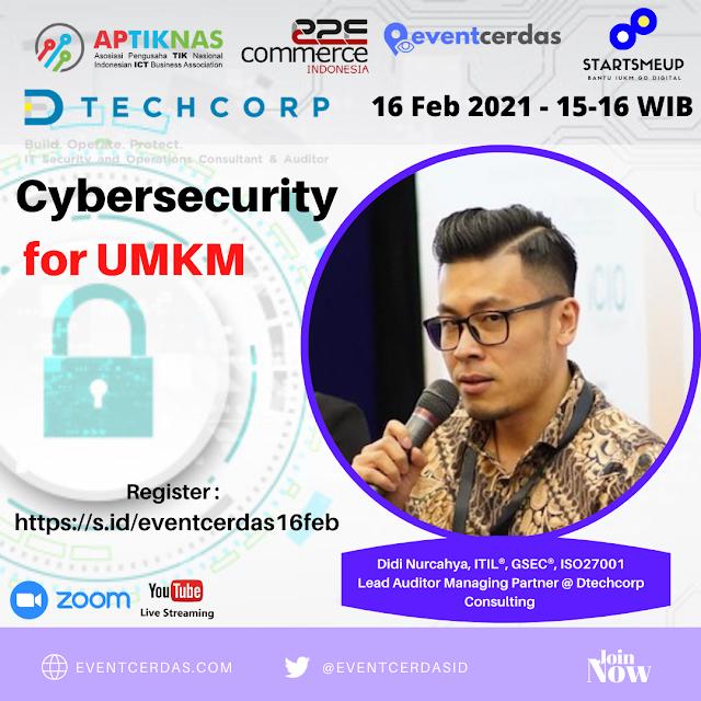 EVENTCERDAS : DTECHCORP : Cybersecurity Talk - Keamanan Siber untuk UMKM