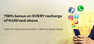 500% airtime bonus for call and sms and 200% to browse all your favourite apps