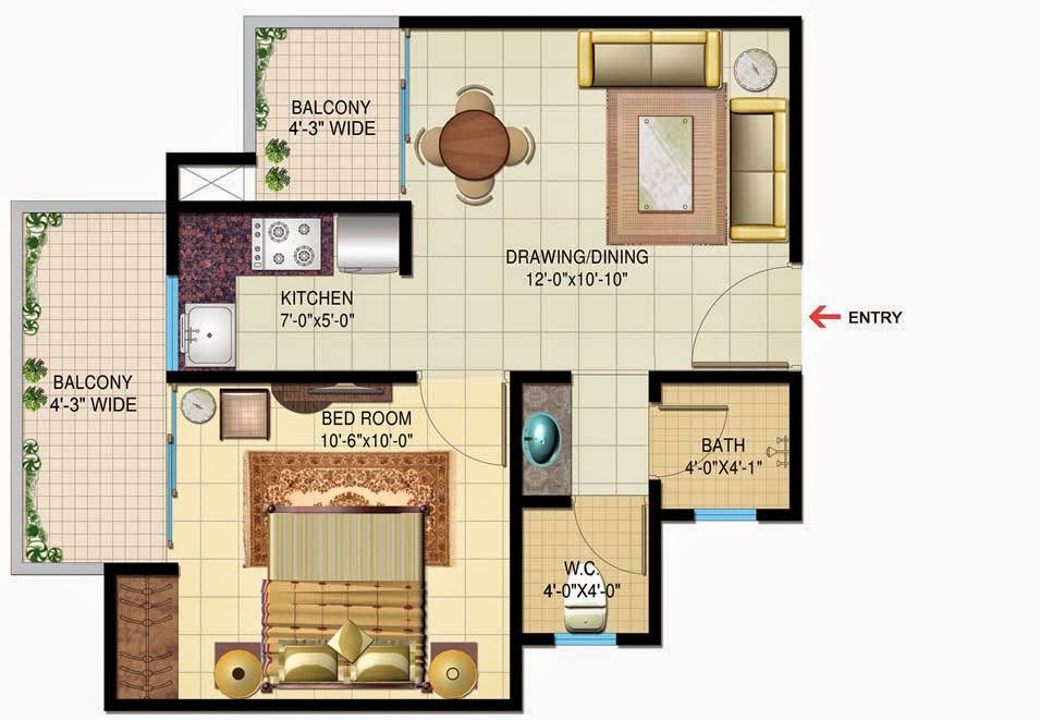 Astounding Foundation Dezin Decor 1 Bhk Small House Layouts Largest Home Design Picture Inspirations Pitcheantrous
