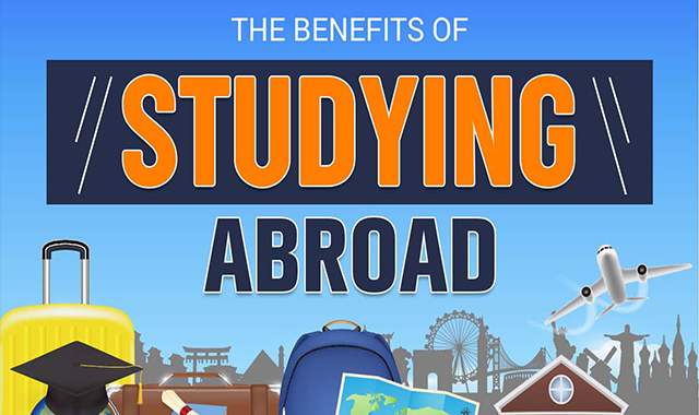 The Benefits of Studying Abroad #infographic