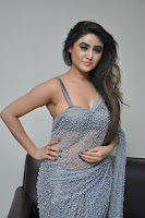 Actress Sony Charistha Latest Pos in Silver Saree at Black Money Movie Audio Launch  0012.jpg
