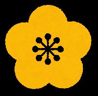 梅の花のマーク(黄色)