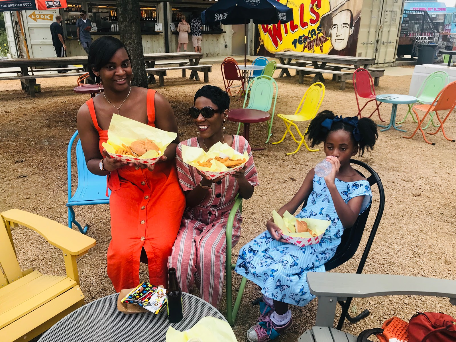 Image: Tangie Bells daughters : Kamoriae: Shacarey Martin: Moriah at birthday party in Truck Yard at the colony. Seen first on Bits and Babbles blog