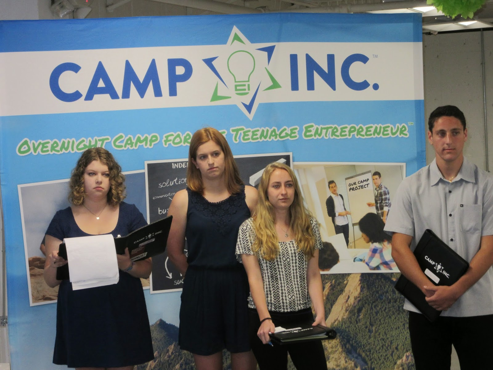 Camp Inc. campers pitch DiabeTech at a practice pitch day in Boulder, Colorado