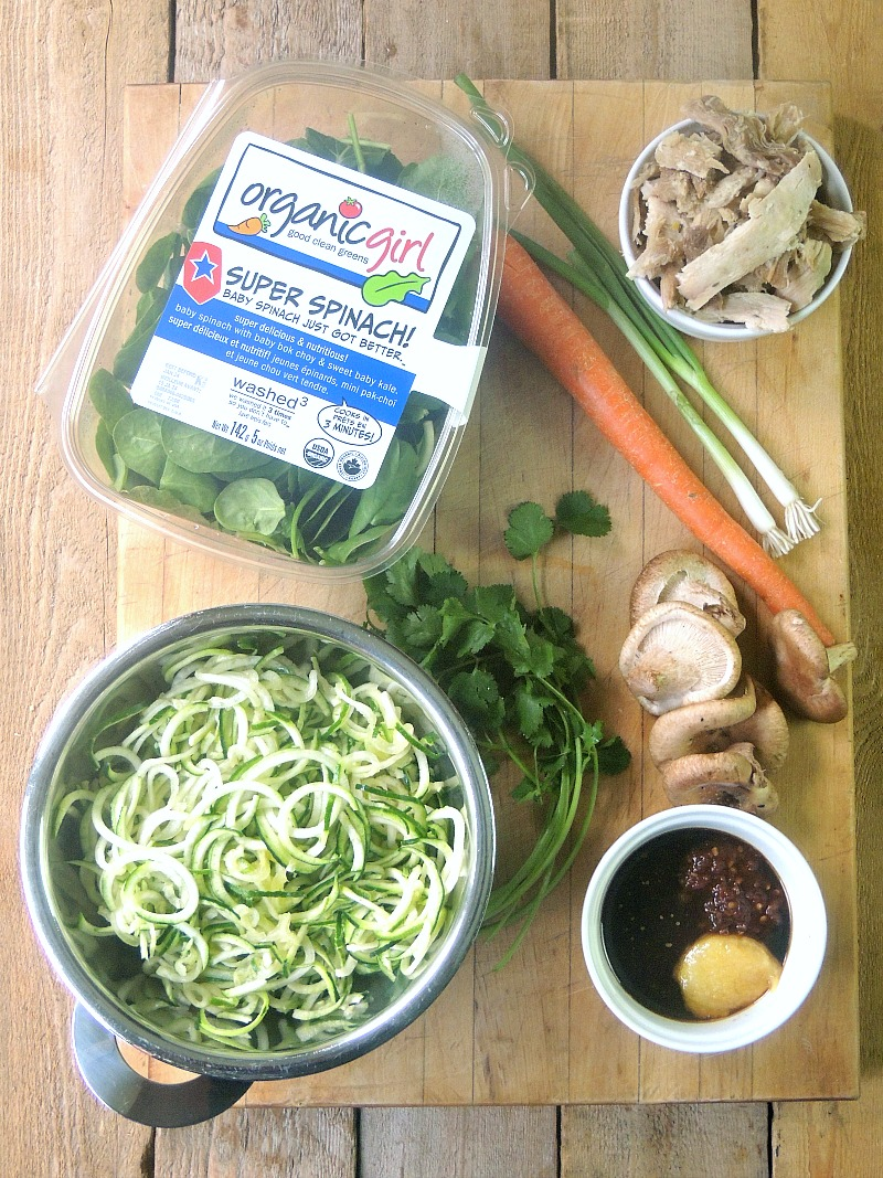 "This Keto Meal-Prep | Chicken ""Ramen"" recipe is super easy to make and so delicious with only 7.6 nets carbs per serving! #asian #soup #keto #mealprep #chicken #ramen #recipe 