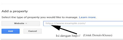 memasukkan website ke webmaster tools