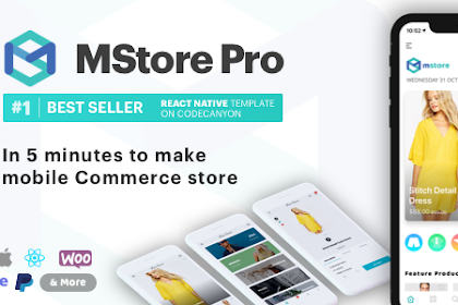MStore Pro v3.8.0 - Complete React Native template for e-commerce