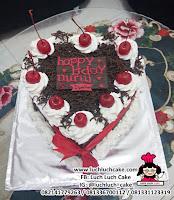 Kue Tart Ulang Tahun Blackforest Love Hati