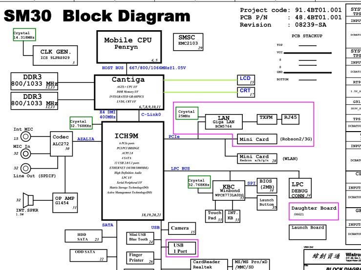 08239-sa Acer Aspire 3935 Wistron SM30 Rev.SA schematic
