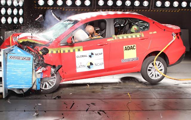 Fiat Argo e Cronos decepcionam com 3 estrelas - LatinNCAP