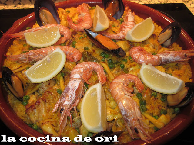 La cocina de ori paella de marisco al horno for Como cocinar paella