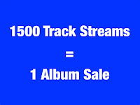 1500 Track Streams = 1 Album Sale