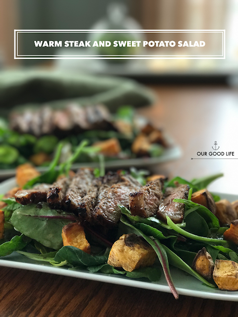 Warm Steak and Sweet Potato Salad