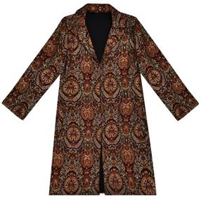Black-Gold Banarasi Handwoven Pure Brocade Jamawar Silk Jacket