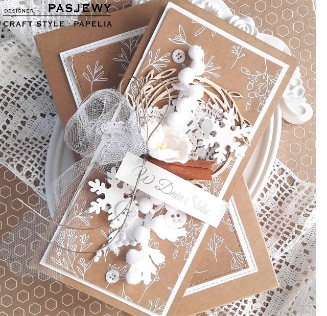 W naturalnych kolorach na ślub-kartka w pudełeczku