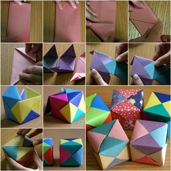 How to make Origami Cube - Crazzy Craft - photo#2