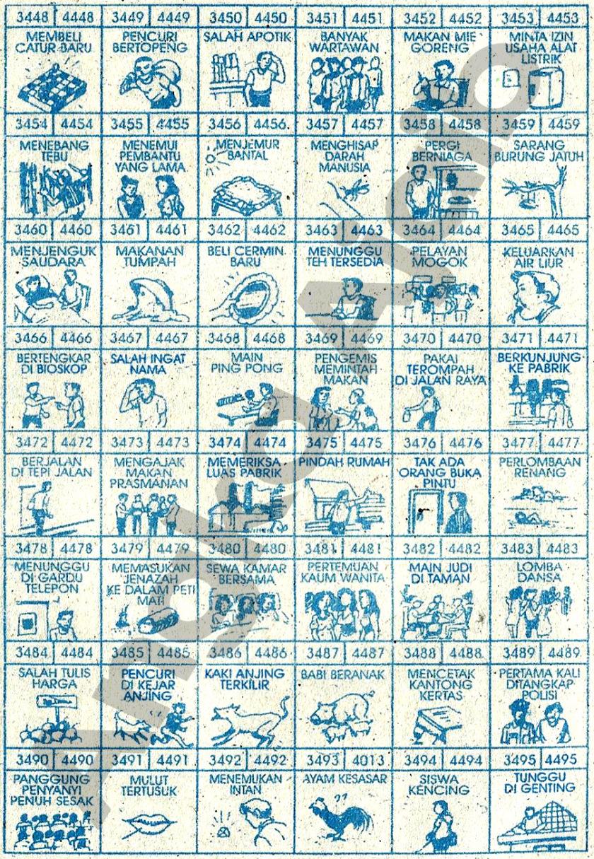Buku Mimpi 4D Bergambar 3448-3495
