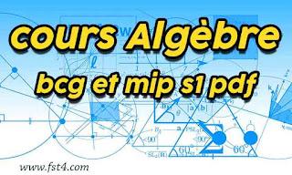 cours Algèbre bcg et mip s1 pdf