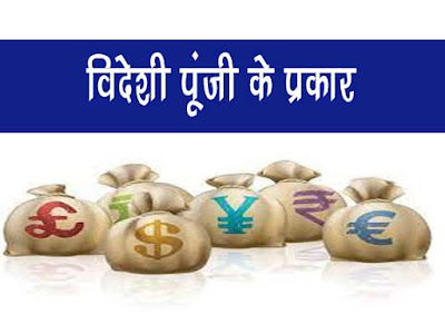 विदेशी पूँजी के प्रकार  Types of foreign capital