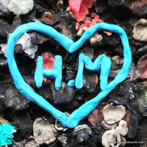 heart in Bubblegum Alley in San Luis Obispo, California
