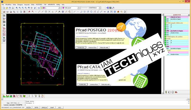 Survey CAD System pfCAD Catasto v22.0