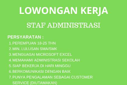 Lowongan Kerja Staff Administratasi SQ Taman Hati