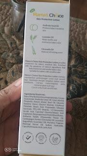 Kandungan bahan Mama's Choice Mozzbye Skin Protection Lotion