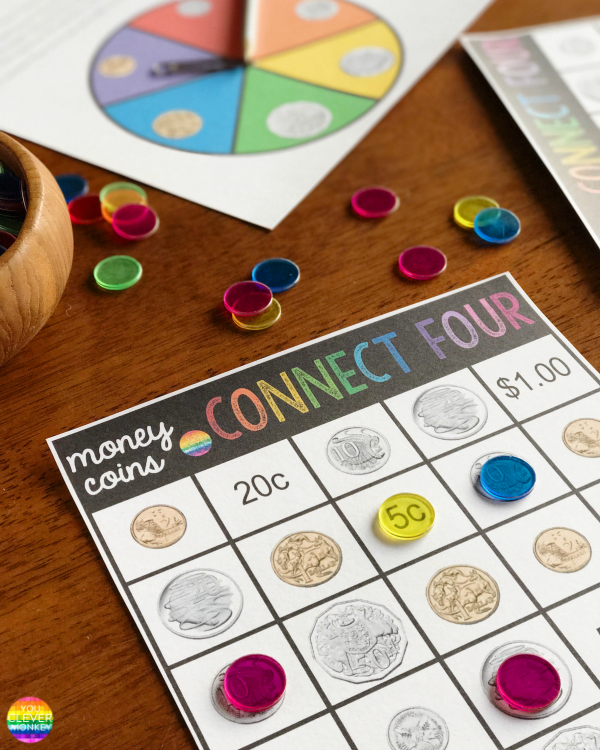 Australian Coins Printable Connect Four Game | you clever monkey