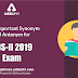 Most Important Synonym and Antonym for CDS II 2019